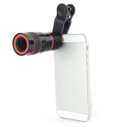 Wholesale Mobile Phone Telescope Camera - Mobile Phone Telescope 8X Zoom Lens Magnification Magnifier Optical Telephoto Camera Lens For iPhone Samsung Galaxy HTC Retail Package DHL