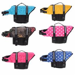 Wholesale life jacket float - Pet Aquatic Reflective Preserver Float Vest Dog Cat Saver Life Jacket Safety Clothes For Surfing Swimming Vest Swimwear Xs  S  M  L