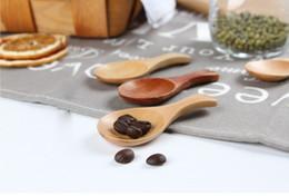Petite cuillère en bois pour enfants Confiture de miel Baby Ice Cream Assaisonnement Laque naturelle En Bois Chaep Vaisselle En Gros ? partir de fabricateur
