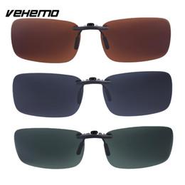 Lentes de substituição de óculos de sol on-line-Vehemo Vehemo substituição polarizada lentes Flip Up para óculos de sol óculos de condução UV400