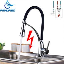 Faucet baixo on-line-Torneiras De Água Misturador Torneira Da Cozinha de baixa Pressão Polido Cromo Único Punho Único Furo Duplo Funções Torneiras Torneiras de Água