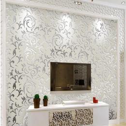 Фиолетовые обои онлайн- High quality wallpaper papel de parede 3D fashionable bedroom wall background 3d wallpaper roll launch white purple