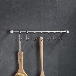 JILIDA pentola in acciaio inox solido vaschetta con flessibile 7 ganci utensili da cucina appendiabiti bagno gancio parete cucina organizzatore da