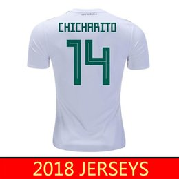 Wholesale Thailand Jersey Wholesalers - 2018 Mexico Soccer Jersey CHICHARITO LOZANO CHUCKY DOS SANTOS National team camisetas de futbol World Cup Men thailand football T shirt
