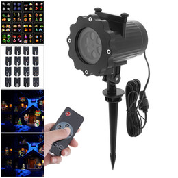 Wholesale Music Laser Lights - Waterproof Outdoor Snow Projection Laser Light DJ Disco Party Music Laser Stage Lighting Effect with 16 Card and Remote Control
