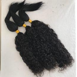 Wholesale 26 Inch Human Hair Braiding - Human Hair Braid In Bundles Brazilian Water Wave Hair Extensions 3pcs lot No Glue No Thread No Clips