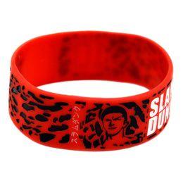 Ciliegia adulto online-Braccialetti di gomma del braccialetto del braccialetto del silicone di Cherry Blossom Road Braccialetti di braccialetti del silicone per i regali Accessori adulti dei gioielli del bambino T1C129