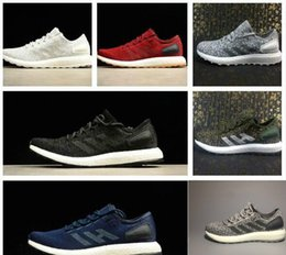 Wholesale raw rubber - 2018 RNew Raw Womens Mens Running Shoes Ultra Uncaged Runner Zapatos City Sock White Grey Pureboost Walking Sneakers free shipping