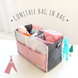 Wholesale bottle collection - 2 Colors Diaper Bag Baby Milk Bottle Insulation Bag Multi-function Mummy Storag Bag For Baby Stuff Collection Stroller Accessories Baby Care