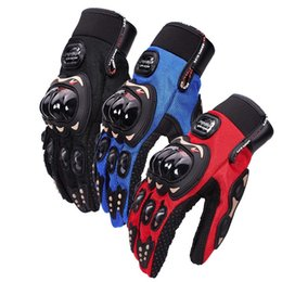 Wholesale Cycling Wear For Women - Motorcycle Five Fingers Gloves Breathable Resistance To Fall Mittens Anti Wear Non Slip Sports Racing Glove For Men And Women 16wr B