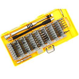 Tableta compacta online-Juego de herramientas de destornillador de precisión 60 en 1 Juego de destornilladores magnéticos para tableta de teléfono celular Mantenimiento de reparación compacto con caja