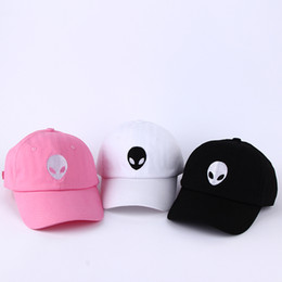 41647ae2099 Hot sales aliens Outstar saucer Space E.T UFO fans black fabric baseball  caps hat for men women