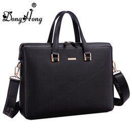 Wholesale Computer Dress - 2018 new high quality real cowhide first leather man business briefcase top quality