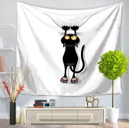 Wholesale blankets for free shipping - Cartoon Cat Tapestry Multifunction Beach Blanket Tablecloth Bed Sheet For Children Party Supplise 5 style Free Ship
