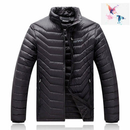 Wholesale Mens Fashion Ski Jacket - 2018. High Quality New Winter men's Down puffer jacket Casual Brand Hoodies Down Parkas Warm Ski Mens jacket 077