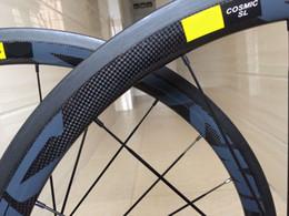 Wholesale super light carbon wheels - 2018 Top Sales COSMIC 700C 3k matte full Carbon Wheelset clincher with shimono 11s powerway hubs super light racing carbon bike wheelset