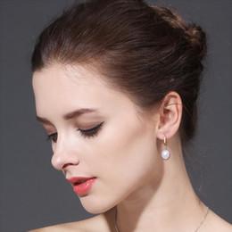 bijoux antiallergiques Promotion Bijoux en perle de boucles d'oreilles en or 18k, antiallergiques 18K véritables boucles d'oreilles en or pour les femmes nouvelle mode longues boucles d'oreilles