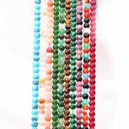7910b620b667 Granos sueltos de 3 mm para la fabricación de joyas de piedra natural  Ágatas redondas Cristal Tiger Eye Jades Amazonite Amethysts Aventurine 15