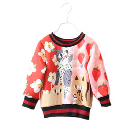 Wholesale Knitted Kids Pullover Sweater - winter knitted sweater girl 2017 flower and animal printed girls sweaters kids winter sweater long sleeve kids pullover 3-10T