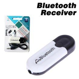 аудио выход приемника bluetooth Скидка Bluetooth автомобиля громкой связи автомобиля 2 в 1 USB двойной выход Bluetooth приемник аудио музыка адаптер для IOS Android