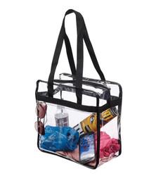 Sacs à bandoulière zippés en Ligne-Sac à bandoulière de voyage de sac à bandoulière zippé de sécurité de stade clair par sacs Construction robuste de PVC avec de longues poignées externes de poche