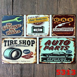 Wholesale Car Garage Decorations - CAR GARAGE SERVICE Last Chance Tin Signs Home Bar Hotel Wall Plaque Iron Painting Party Decoration 20*30CM Free Shipping