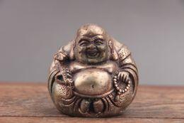 buddha handverzierung Rabatt Vorzügliche chinesische Hand geschnitzte Buddha Cupronickel Statue von paktong as425