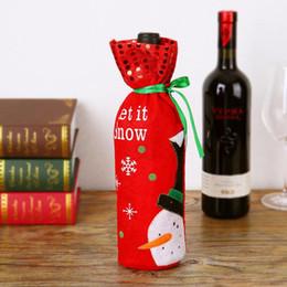 3 Estilo Tampa Da Garrafa de Vinho Tinto Sacos de Decoração Para Casa Festa de Papai Noel embalagens De Natal decoração de natal feliz natal de