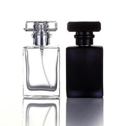 Tipo de Moda 30 ML Transparente Portátil de Vidro Preto Perfume Spray Garrafas Com Atomizador De Alumínio Vazio Recipientes Cosméticos Para Viagens DHL supplier transparent black glass bottle de Fornecedores de garrafa transparente de vidro preto