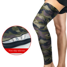 Wholesale Leg Warmer Cycle - 1 Pair Compression Breathable Sock Leg warmer Camouflage Basketball Leg Sleeves Kneepads For Outdoor Running Cycling Hiking Sport Safety