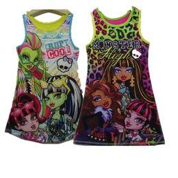 Nachthemd heißes mädchen online-Heißer verkaufende neue Mädchen Kleid Monster Schule Kleid Kinder Kinder Casual Design Kleider hohe Monster Mädchen Nachthemd Cartoon