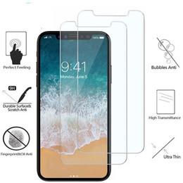 Telefon Temperli Cam Ekran Koruyucu Için iPhone XS Max XR X 8 7 Artı 6 6 s Artı Filmi 9 H Anti-paramparça nereden mat kutu kırmızı tedarikçiler
