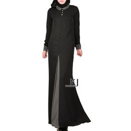 8e83383b32 2018 new Muslim women s nida dress gown long robe Saudi arab women clothes