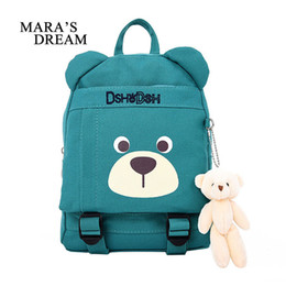 Wholesale Bears Book - Mara's Dream 2018 Cute Children School Bags Cartoon Bear Backpack Baby Toddler Kids Book Bag Kindergarten Boy Girl Backpacking
