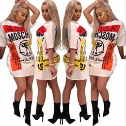 Lunghi abiti bianchi della camicia da estate online-T-shirt moda femminile 2017 T-shirt manica corta femminile Mini abiti cuciture lunghe T-shirt casual Abito bianco estivo Abiti da donna Vestidos