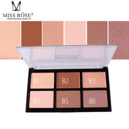 Poudre de crème pleine en Ligne-MISS ROSE Bronzer Poudre Correcteur Contour De La Crème Palette Pleine Couverture Kit De Maquillage Visage Glow Highlight Palette Maquillage Iluminador