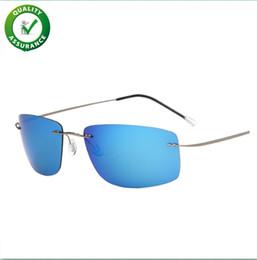 2019 herren sonnenbrille Mens Luxury Designer Sonnenbrille Polarisierte Sport Sonnenbrille Fahren Sonnenbrille Shades für Männer Frauen Unzerbrechlich Randlos Radfahren Outdoor rabatt herren sonnenbrille