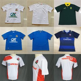Wholesale national africa - Cheap Adults 2018 2019 International USA South Africa Japan Italy Home Away NRL National Super Rugby League Printed Pattern S-3XL Jerseys