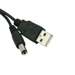 Wholesale dc power jack connector laptop - USB Port to 5.5mm   2.1mm 5V DC Barrel Jack Power Cable Connector E2shopping XXM