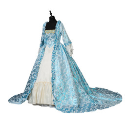 2019 viktorianisches renaissancekleid Renaissance Victorian Christmas Party Brokat Prinzessin Kleid Maskerade Kleid Theater Kostüme günstig viktorianisches renaissancekleid