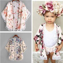 Mode 2018 Bébé Fille Vêtements Mignon D'été Mince Manteaux Enfant Filles Fleur Tassel Kimono Châle Cardigan Tops Tenues Bébé Enfants Vêtements ? partir de fabricateur