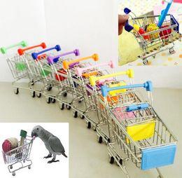 2016 Новое Прибытие Смешные Мини Птица Попугай Мышь Кошка Игрушка Супермаркет Корзина Интеллект Рост от