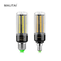 Wholesale Led E14 8w Corn - 1Pcs Real Full Watt 3W 5W 7W 8W 12W 15W E27 E14 LED Corn Bulb 85V-265V SMD 5736 LED lamp spot light 28 40 72 108 132 156 LEDs