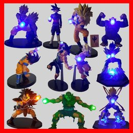 Wholesale Nightlight Toys - Action figures Dragon Ball Z Toys LED Nightlight Son Goku Black Vegeta Gohan Anime Decorative Led Lighting children gifts hot toys