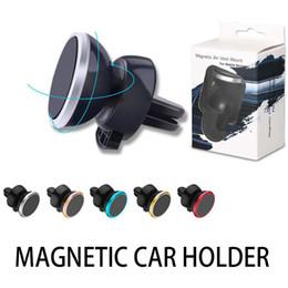 6 Magnetperlen Metall Air Vent Magnetischer Handyhalter für iPhone Samsung Magnet Autotelefonhalter Aluminium Silikon Mount Halter Stand von Fabrikanten