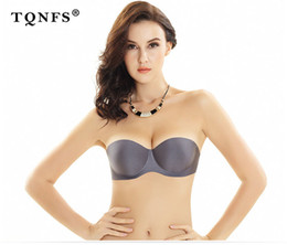 a50805466537a push up bra 32a strapless Canada - TQNFS Strapless Invisible Bra Sexy  Seamless Underwear Thin Section