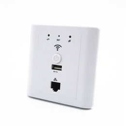 Wholesale Usb Ap - Hotel Socket Wifi in Wall Ap Router Support Poe Usb Lan Wi-fi Wall-mount Access Point White