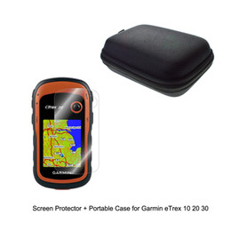 Wholesale Screen Protector For Gps - Outdoor Traveling Protect Portable Case Bag +Clear Screen Protector Shield Film for Garmin GPS Edge eTrex 10 20 30 10x 20x 30x
