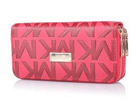 Wholesale Wallet M - Fashion Leather Women Wallet lady long Clutch Lady M Wallet Luxury Brand Money Bag Magic Coin Purse