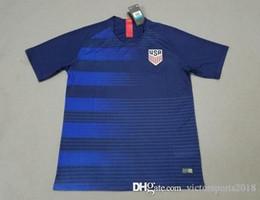 Wholesale Usa Soccer Shorts - USA 2018 World Cup United states Soccer Jersey America national Team away 19 PULISIC YEDLIN BRADLEY Dom Dwyer fooball shirts Thailand custom